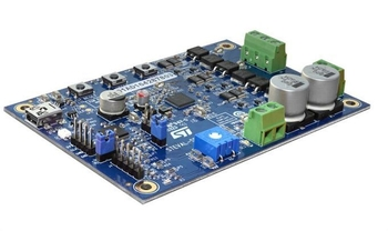 STEVAL-SPIN3201 STM32 Development board-DC motor driver board based on the STSPIN32F0 and STD140N6F7 MOSFETs.
